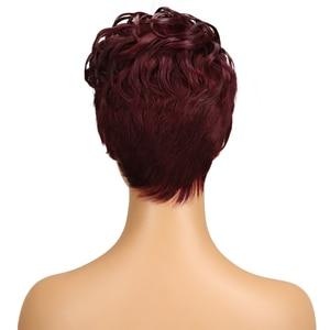 Image 4 - מלוטש ברזילאי רומנטיקה לארוג שיער טבעי פאות רמי לא תחרה מול שיער טבעי פאות לנשים שחורות Perruque Cheveux Humain