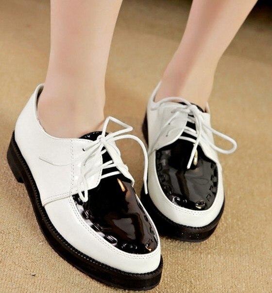 Cordón Bajos Tacones Moda Del Gruesa Primavera Otoño Zapatos Bwv7q