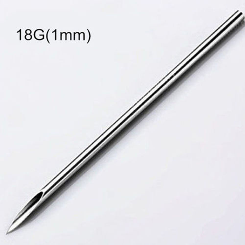 10pcs 12/14/16/18/20G Surgical Steel Piercing Needles Navel Nose Black Head Pimples Acne  Tool Face Care Blackhead