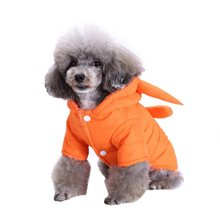 Pet Dog Clothes Coat Soft Cotton Dog Clothing Small Size Black Orange Dog Jacket Parkas Pet Winter Coat Waterproof Clothing(China)