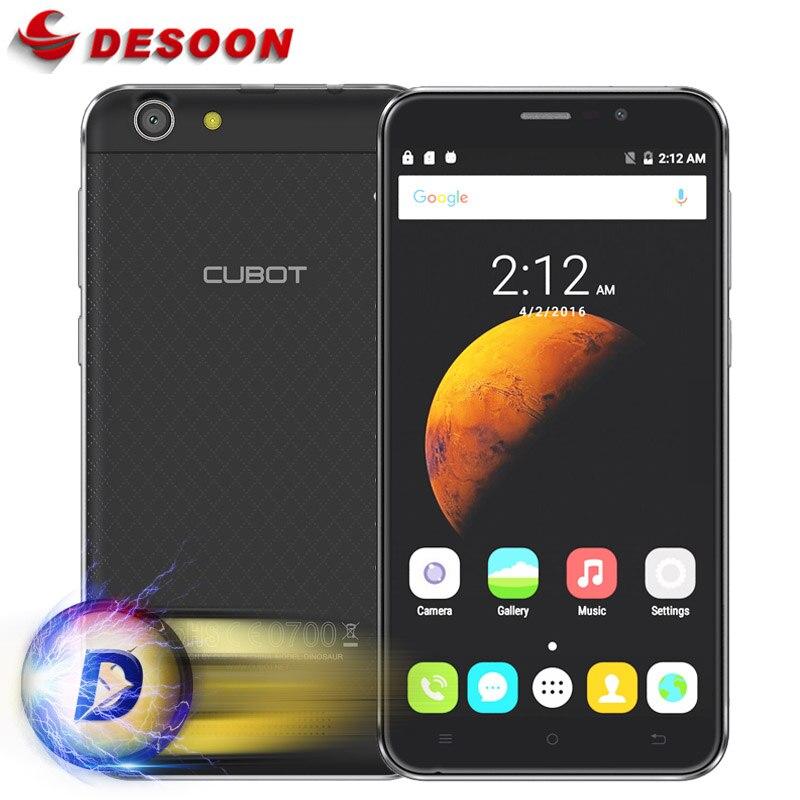 Цена за На складе в Исходном 5.5 дюймов Динозавров Cubot Мобильный Телефон MT6735A Мобильный Телефон Andriod 6.0 Quad Core 8MP 3 ГБ RAM 16 ГБ ROM 4150 мАч