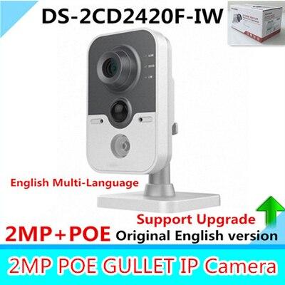 Фотография Original English Version WIFI Camera DS-2CD2420F-IW HD 2MP High Resolution Wireless Camera Built-in Microphone 10m IR IP Camera