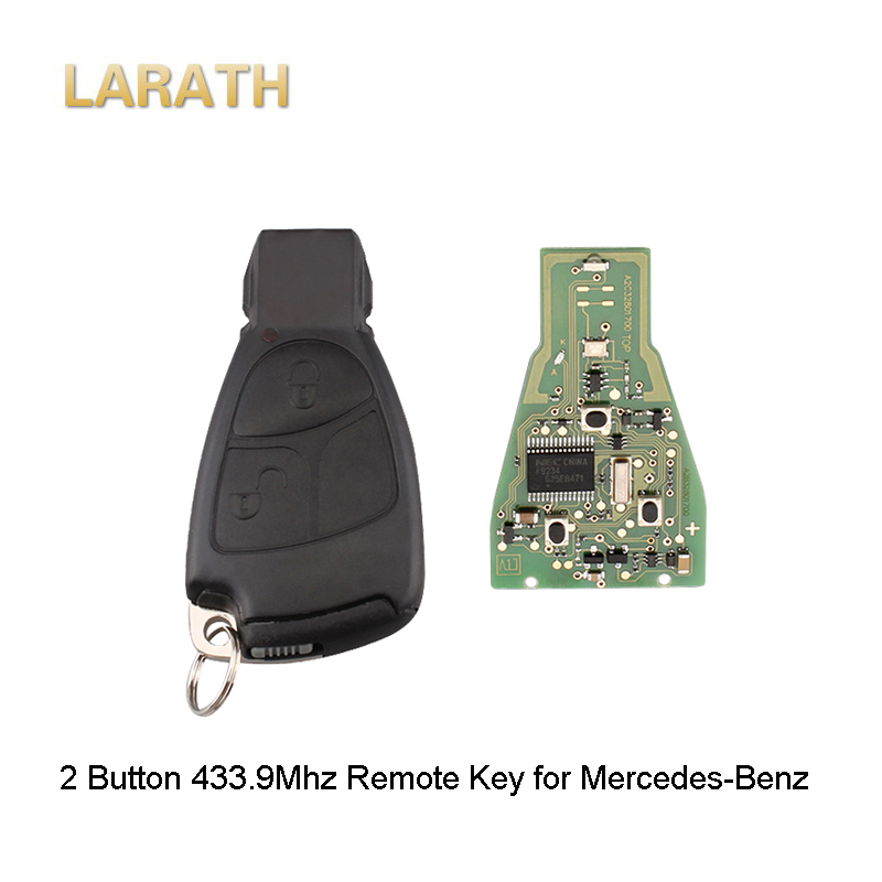LARATH New 2 Button Complete Remote Key For Mercedes Benz C E ML Class 1999-2010 car-styling 433.9Mhz Car Key with Blade No Logo