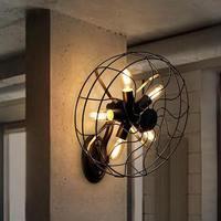 Лофт стиль винтажные Настенные светильники промышленный ветер Эдисона бра для лестницы Электрический вентилятор Настенный светильник осв