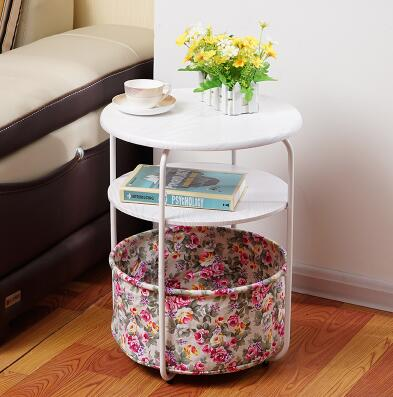 Portable tea table with a few side table with round table, simple tea table,. a few modern side small round tea table the piano lacquer that bake the sofa side table white