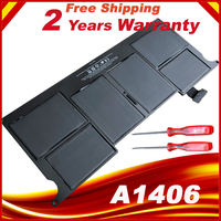HSW New laptop Battery for Apple MacBook Air 11 A1465 2012 A1370 2011 production Replace A1406 battery Free shipping