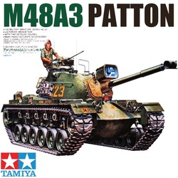 Tamiya-chars militaires américains M48A3, échelle 1:35, Kit de construction de chars Patton, passe-temps à faire soi-même, 35120