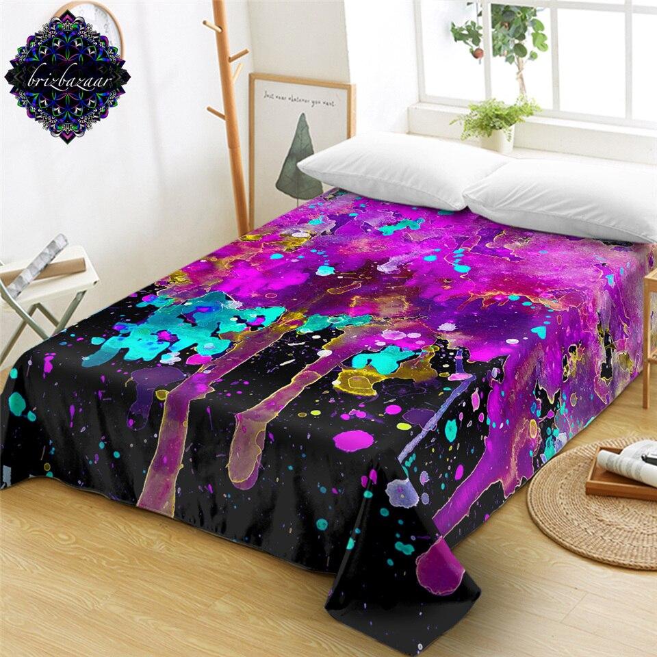 Pink Splatter By Brizbazaar Bed Sheet