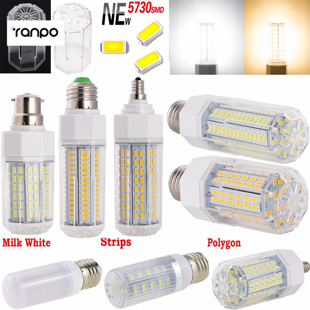 Super Bright 7W 9W 12W 15W 21W 30W 33W 39W 5730 SMD LED Lights Corn Bulb E12 E14 B22 E26 Energy Saving Lampada Warm/Cool White cheap 220v led lamp ultra bright light 5730 smd 7w 12w 15w 20w milky warm cool white e27 gu10 b22 e14 g9 led corn bulb lamp ce
