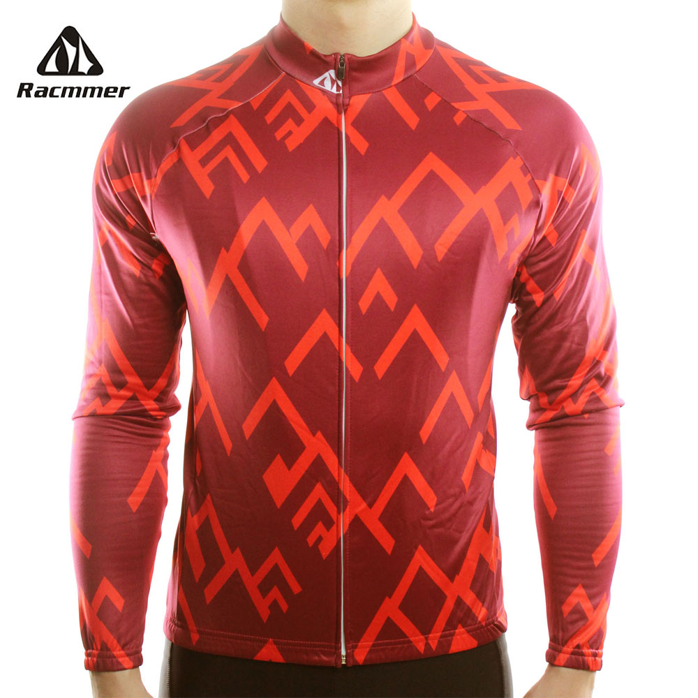 Racmmer 2018 Long Sleeve Pro Cycling Jerseys Men Mtb Clothing Bicycle Maillot Equipacion Ciclismo Sportwear Bike Clothes #CX-15 цена