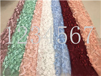 2018 New pattern  5yards XC024# 7colours Add flowers tulle mesh lace fabric for bridal wedding dress/sawing Free shipping