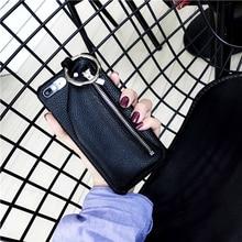 IPhone Zipper PU Leather Case