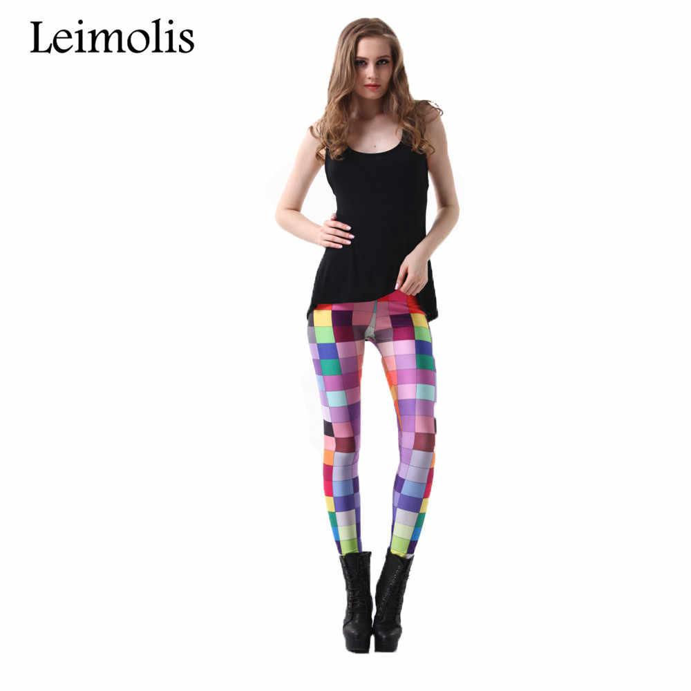 d31afbbe26 ... Leimolis 3D printed fitness push up workout leggings women gothic pop  art plaid mosaic plus size ...