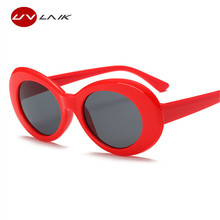UVLAIK Clout Goggles NIRVANA Kurt Cobain Round Sunglasses For Women Mirror Glasses Retro Female Male Sun Glasses UV400