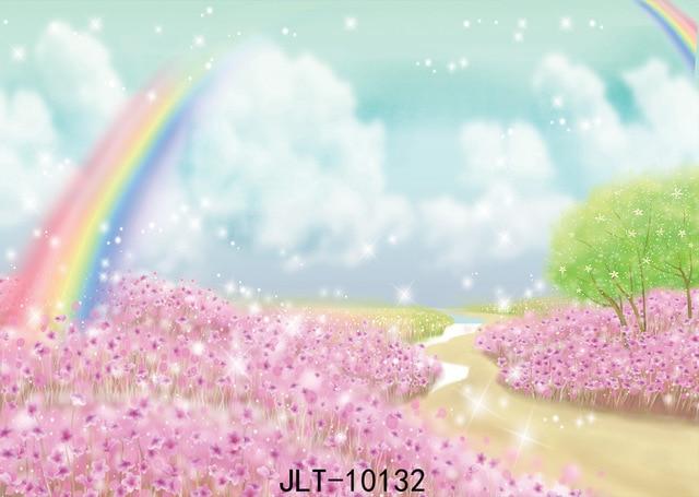 Children S Portrait Cartoon Flower Photography Backdrops