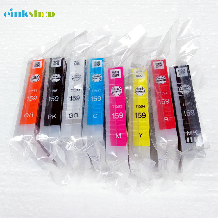 New 159 T1590 - T1599 Original Ink Cartridge for Epson R2000 R2000S Ink cartridge R2000 A3 Printer vj1510 ink core new original complete ink core for videojet vj1510 printer