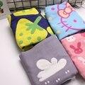 Toalla del bebé 4 unids mucho cara toalla 35x35 cm 100% algodón 3 capas pañuelo toallita Nubes de Conejo diseño para niñas