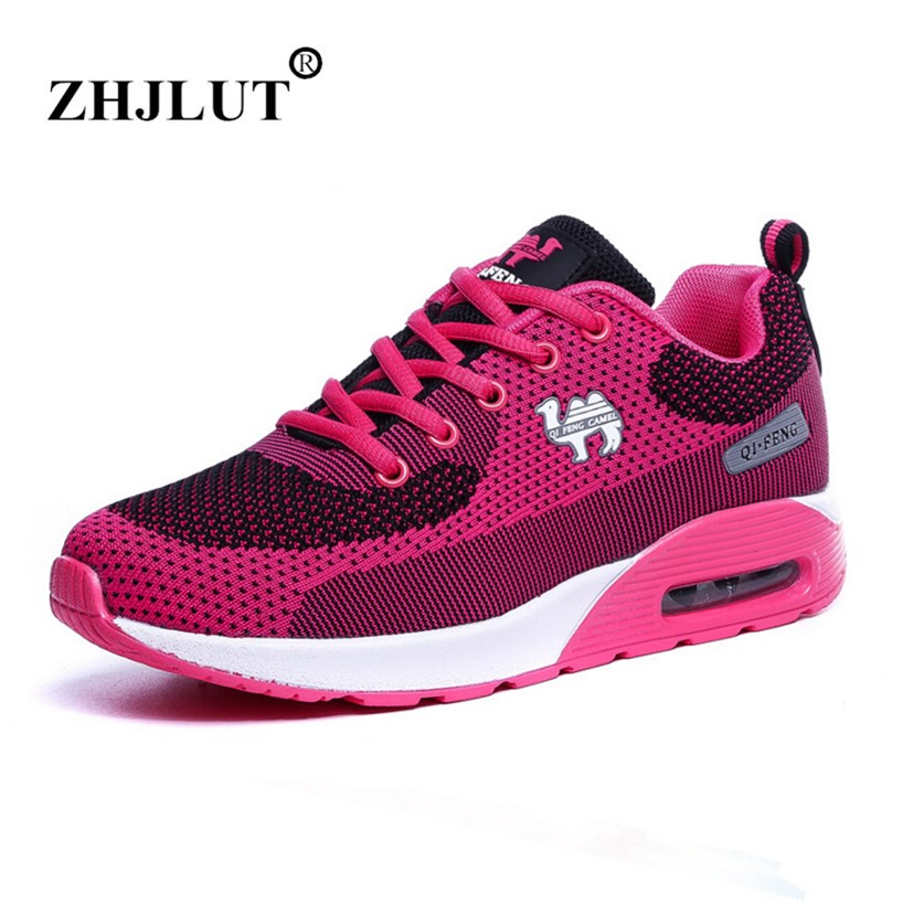 2017 Air Cushion Women Running Shoes Breathable Sneakers Men Walking Run Athletic Shoes Outdoor Lightweight Sport Shoe For Women sneakers running shoes sports men and women shoes rubber sole anti skid wear student shoe low upper waterproof air cushion hot