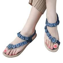 7505164a3 SIKETU sandalias mujeres 2018 Boho Bohemia estilo nuevo verano para mujer Sandalias  plana zapatos casuales de