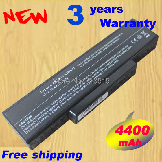 Rechargeable laptop battery A32-K72 A32-N71 A32-N73 A72 N71J N73 K72 K73 X7B X7C PRO7B PRO7C X72DR X72DY X72F X72JK X72JR X73