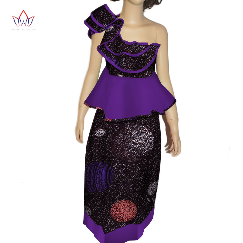 2018 Afrikanische Mädchen Kleidung Dashiki Traditionellen Sommer Anzug Passenden Afrika Print Mädchen Chinesischen Set Kinder Baumwolle Brw Wyt186