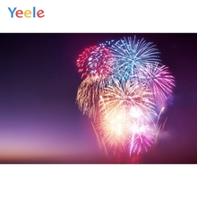 Yeele Christmas Photocall Fireworks Party Customized Photography Backdrop Personalized Photographic Backgrounds For Photo Studio