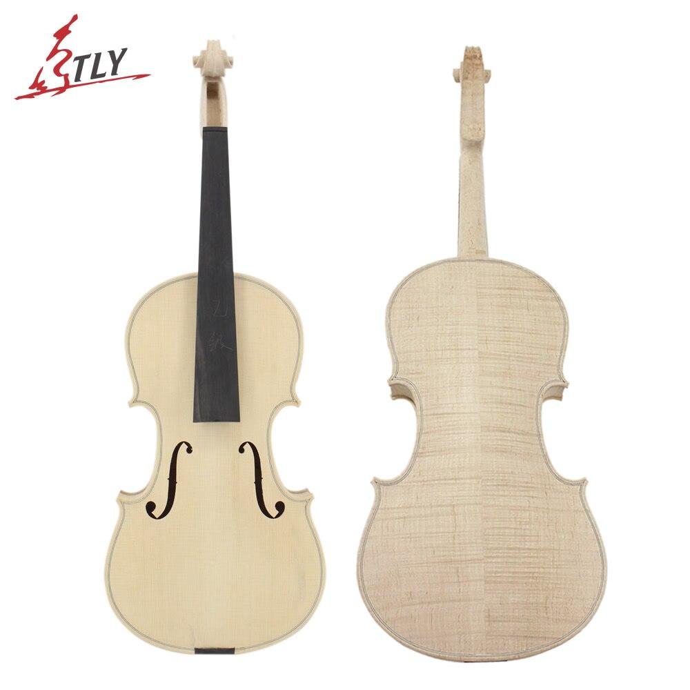 Fábrica Violino Inacabado Seletiva 25 Anos Secos Naturais Spruce Top Inflamado Back Maple Em Branco Violino Instrumentos Musicais