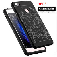 New arrival M4S dragon patterned TPU Gel case for Xiaomi 4S Mi4S Shockproof blade design soft back cover CCS