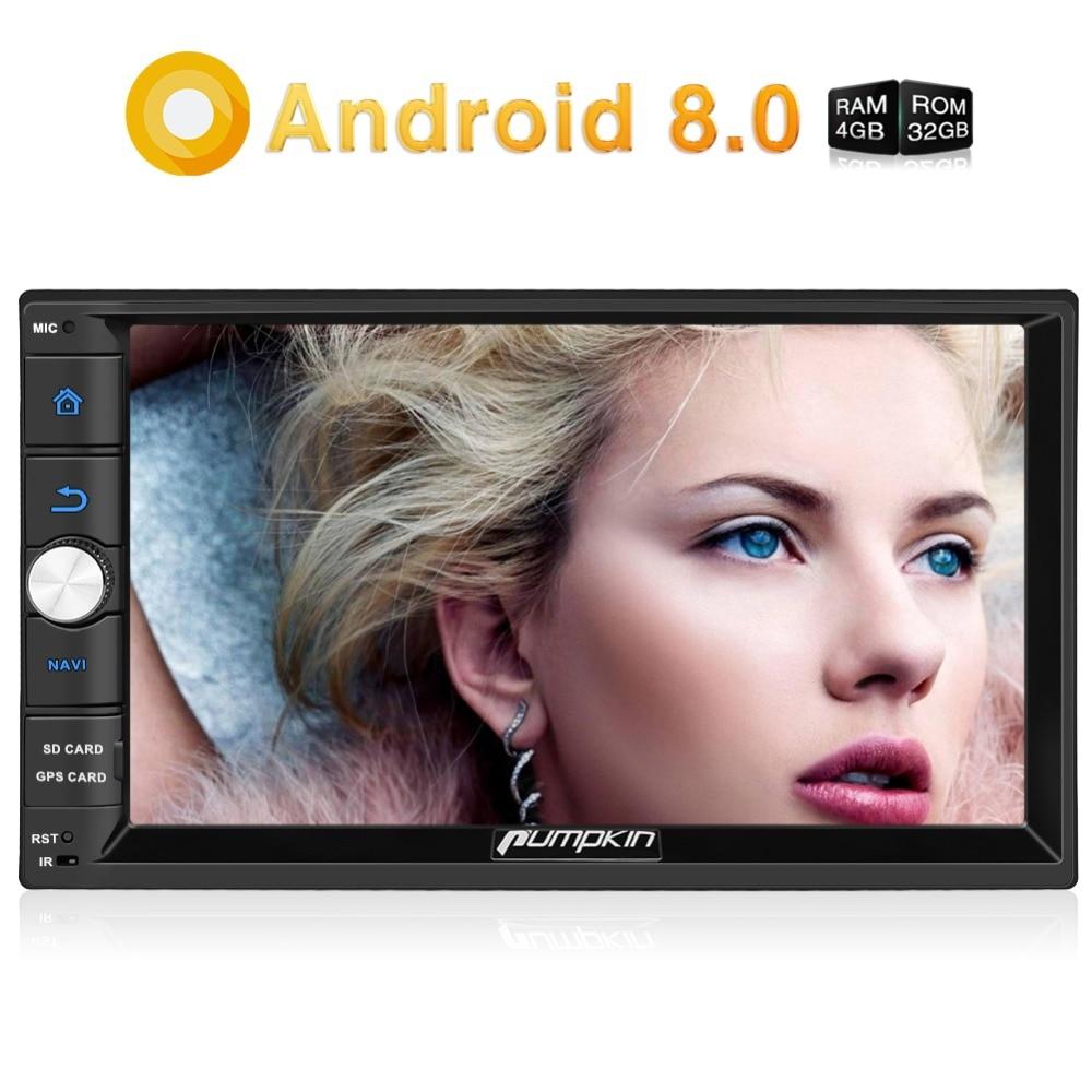Citrouille Octa Core RAM 4G ROM 32G 2 Din 7''Android 8.0 universel autoradio Audio stéréo sans DVD GPS Navigation démarrage rapide Headunit - 2