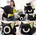 Candice guo! nueva llegada super lindo juguete de peluche Luo negro gato muñeca de peluche gatito papa pillow regalo de cumpleaños 1 unid