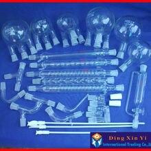 28 шт. Boro 3,3 стеклянная химическая Лабораторная посуда комплект, вакуумная Дистилляция блок, колба+ конденсаторная труба+ PTFE Мешалка и так далее