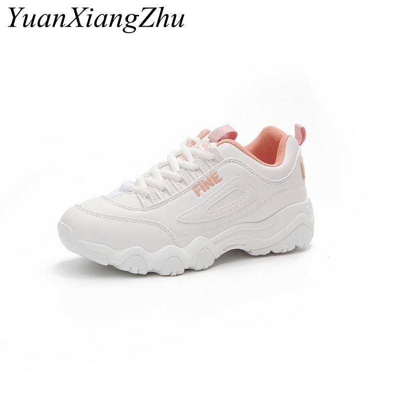 Brand Casual Shoes Women 2018 Korean Flat Women Shoes Fashion Lace-up Comfortable Breathable PU White Platform Ladies Shoes minika new arrival 2017 casual shoes women multicolor optional comfortable women flat shoes fashion patchwork platform shoes