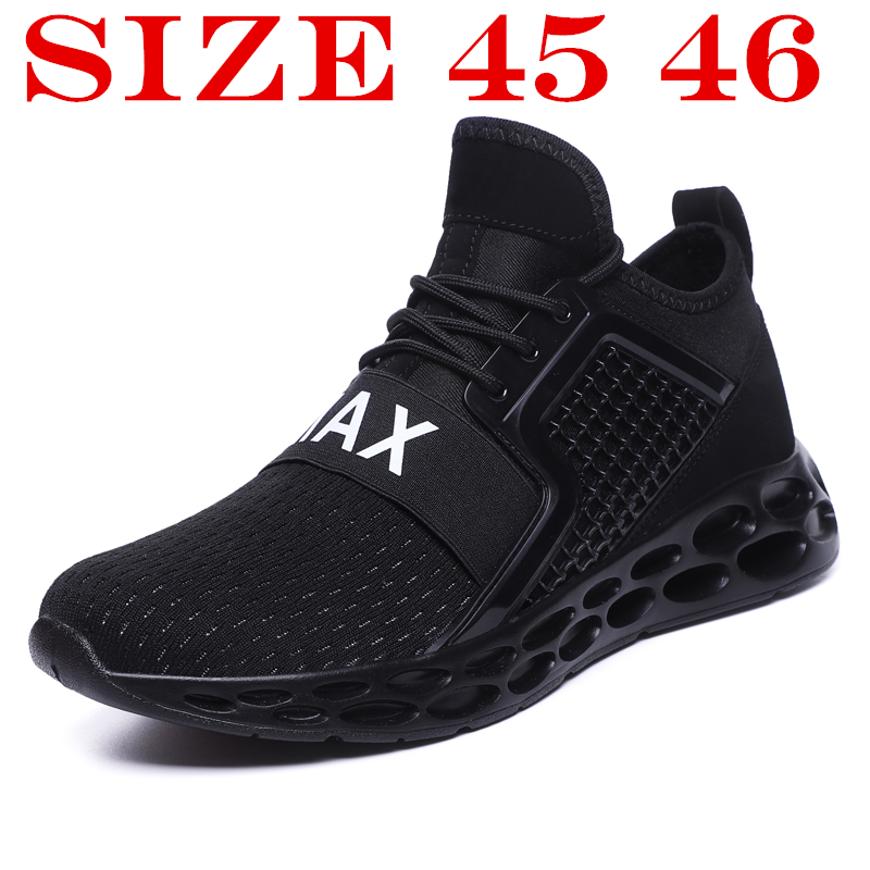 Shoes Men 2018 Mens Sneakers Summer Mesh Light Casual Shoes Men Jogging Casual Men Shoe Fashion Chaussure Homme Plus Size 45 46 fashion summer men casual air mesh shoes large sizes 35 46 lightweight breathable slip on flats lovers shoe chaussure homme 606