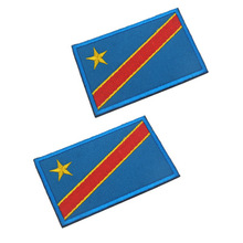Embroidery patch Congo flag embroidery or selling more than 200 national welcome wholesale DIY logo