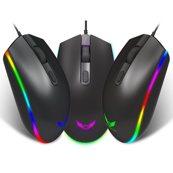 Professional Wired Gaming Mouse 4 Button RGB LED Optical USB Computer Mouse Gamer Mice S900 Game Mouse For PC Laptop เมาส์