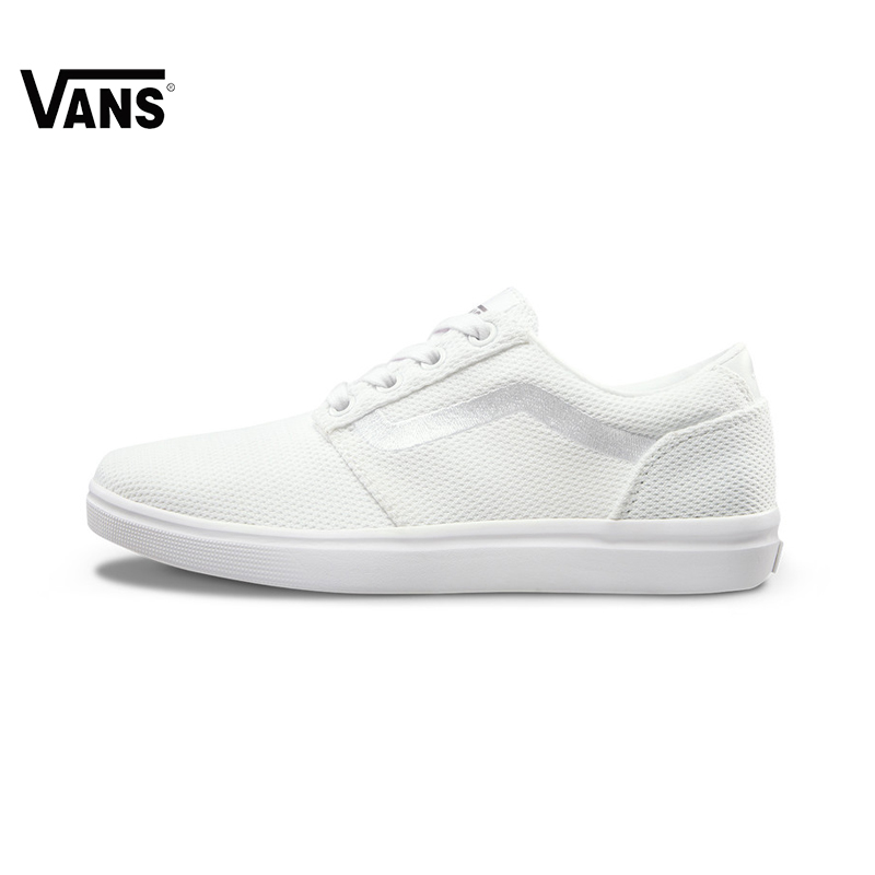 Original Vans New Arrival Fall White Color Low-Top Women's Skateboarding Shoes Sport Shoes Sneakers free shipping