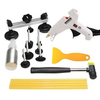 цена на PDR Toolkit Auto Repair Tool To Remove Dents Car Body Repair Paintless Dent Repair Pulling Bridge Glue Gun