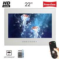 Souria 22 дюймов IP66 волшебное зеркало выполненные исчезающего отель Водонепроницаемый ТВ Ванная комната Водонепроницаемый светодиодный ТВ