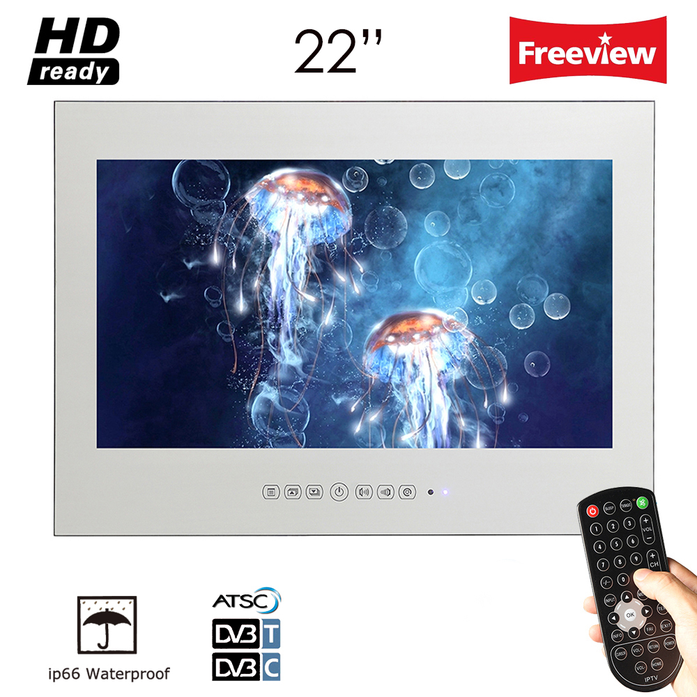 Souria 22 inch IP66 Magic Mirror TV Frameless Vanishing Hotel - Home audio en video - Foto 1