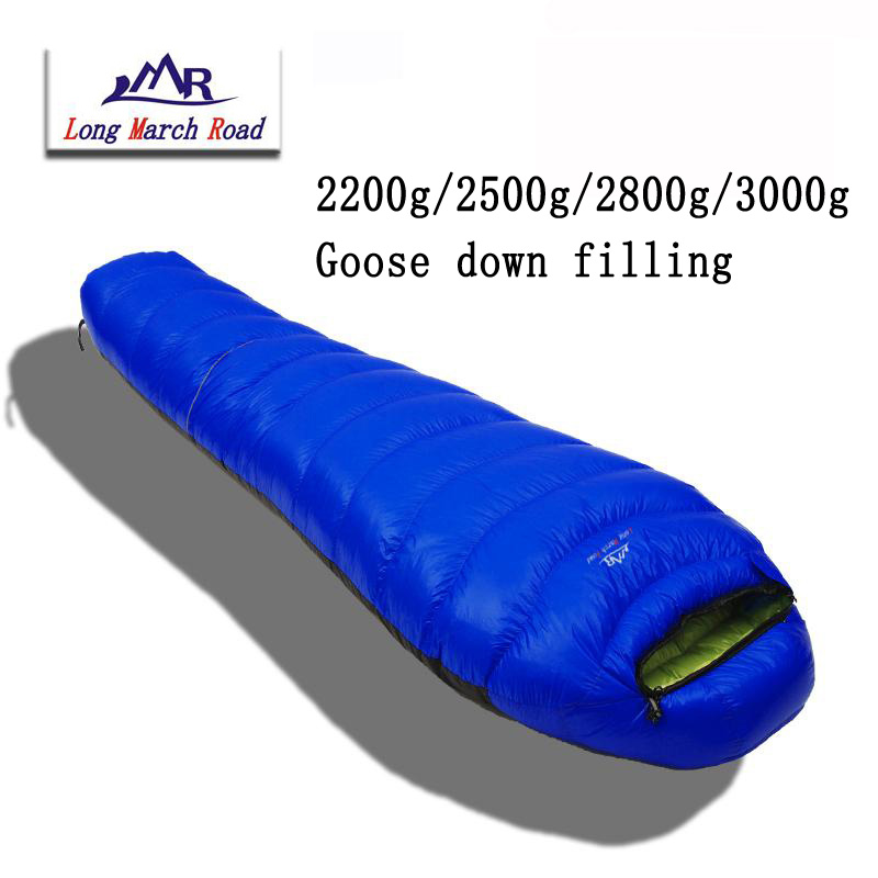 LMR ultralight comfortable down filling can be spliced filling 2200g/2500g/2800g/3000g white goose down sleeping bag