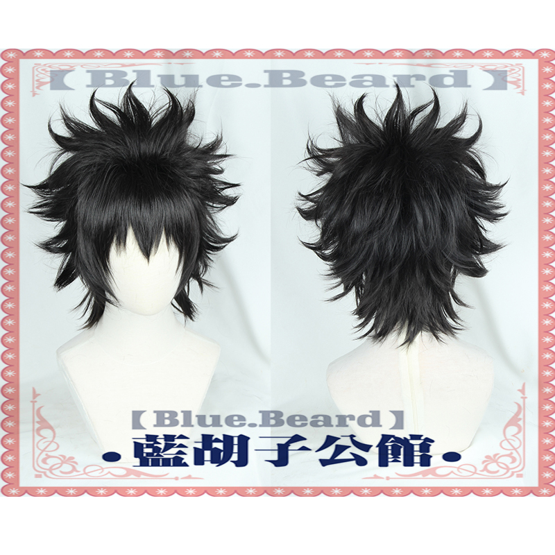 My Hero Academia You Shindou Black Wig Boku no Hero Academia Wig Short Hair Cosplay Anime wigs + wig cap