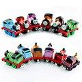 6 unids thomas y Sus Amigos thomas tren de juguete de los niños del tanque motor magnético de metal tomas coche fundido a presión juguetes coches miniaturas regalos