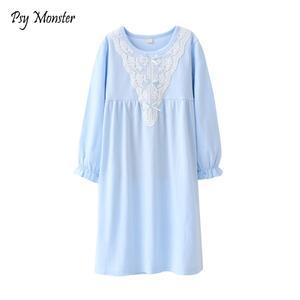 QPANCY Girls Nightgowns Princess Nightdress Cotton Sleepwear Pajamas Dress for Kids