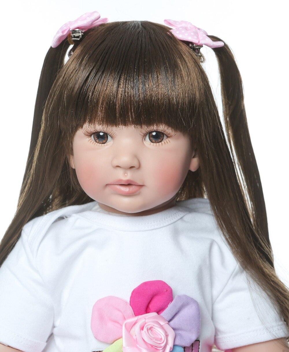 Alta calidad 60 cm tamaño grande reborn Infante princesa silicona vinilo adorable realista bebé Bonecas chica bebe muñeca reborn menina-in Muñecas from Juguetes y pasatiempos    2