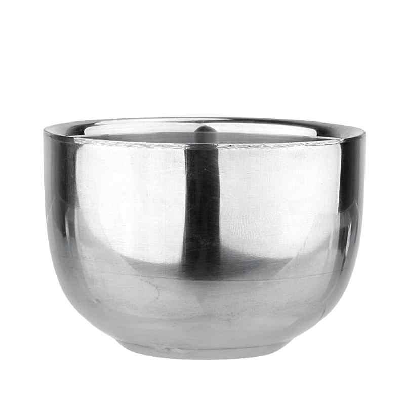 القهوة الحليب أكواب الفولاذ المقاوم للصدأ إسبرسو البسيطة سميكة مزدوجة طبقة الصابون كوب الحرارة العزل السلس الحلاقة القدح عاء القاذف