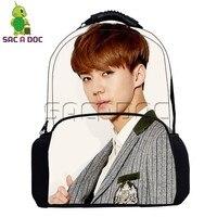 Kpop EXO Backpack for Teenage Girls Boys School Bags Women Men Hip Hop Bag Fashion Idol SEHUN BAEKHYUN KAI Daily Backpacks