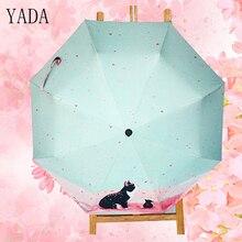 YADA Cats pattern Charms Folding Umbrella Rain Women uv High Quality For Womens brand Windproof Custom Umbrellas YS162