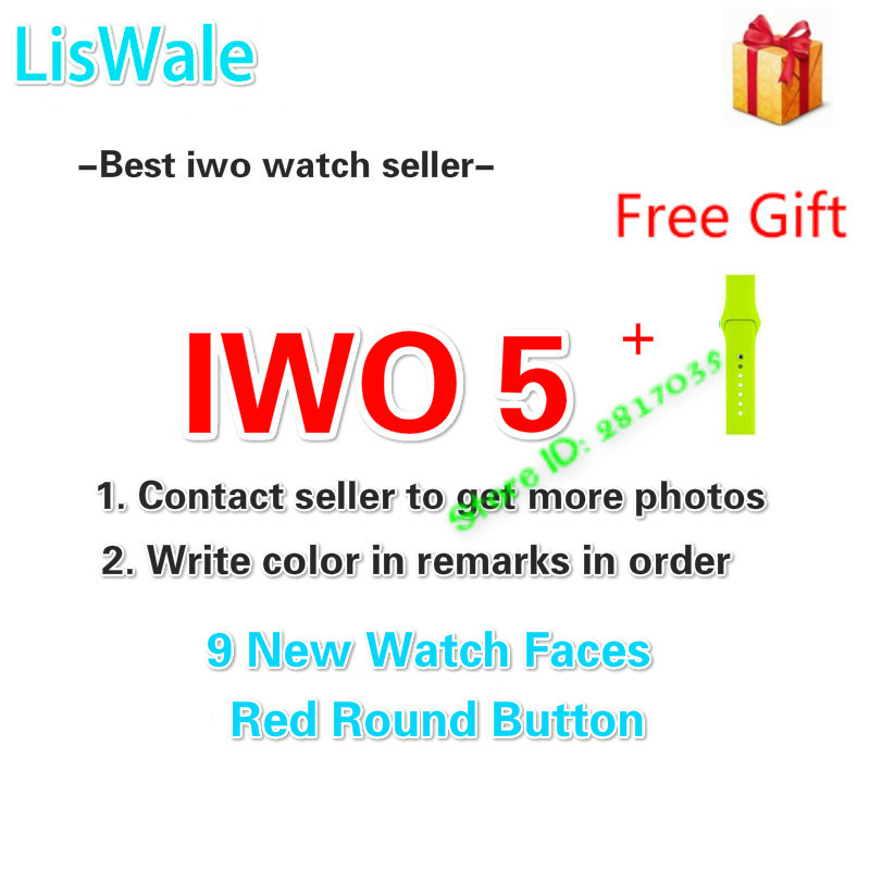 LisWale Smart Watch IWO 5 Heart Rate 1:1 42mm Smartwatch IWO 3 Upgrade Bluetooth Music Watch For iOS Android VS IWO 4 new bluetooth smart watch 42mm iwo smart watch generation smartwatch for ios apple iphone samsung huawei xiaomi android phone