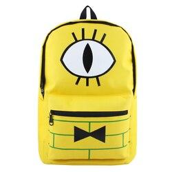 c86137aad5 Гравити Фолз Билл Сайфер школьная сумка-рюкзак Mochila Bookbag carteira  мужчины женщины подростки рюкзаки Bolsas