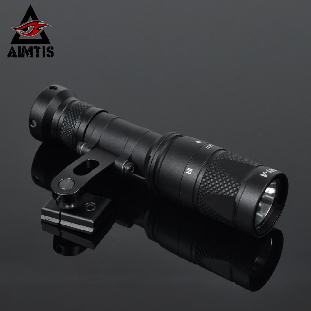 AIMTIS Tactical IR Light NV Night Evolution M600 M600V Infrared Scout Weapon Light IR Illuminator Spotlight for ARC Helmet Rail aimtis surefir m300v scout light led ir 20mm rail flashlight nv infrared output rifle tactical weapon light for hunting armas